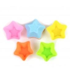 σετ 4 θήκες cupcake σιλικόνης αστέρι
